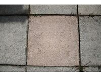 Paving slabs - 45cm x 45cm - 6 grey and 14 pink - £0.75 per slab