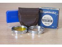 Voigtlander UV and Yellow Filter