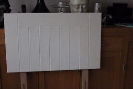 John lewis solid wood white headboard.