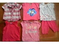 12-18 mths Girl's Bundle of T-shirts x5 Summer/Sun holiday £4.50 OVNO