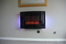 Wall mounted electric fire - collect this weekend 4/5th Aug if poss!