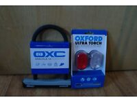 Bike Lock Dlock Bicycle Lock and Light Set Quality Oxford DLock and Light Set Can Deliver If Local