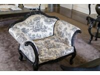 Cream and Black Floral armchairs - Quick Sale