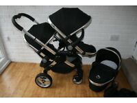 I candy peach double pram/buggy