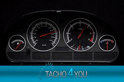 Tachoscheiben für Tacho BMW E38 E39 E53 5er X5 330kmh DEEP BLACK