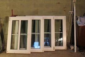 SET OF FOUR TILT & TURN WHITE UPVC DOUBEL GLAZED WINDOWS