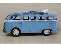 Large Vintage Tin Plate 'VW' Camper Van