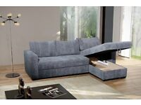 Fabulous Brand New Corner Sofa Bed With Storage .Beige or Grey.Corner to any side, Can deliver