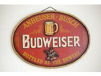 3D Wooden pub beer sign-Budweiser