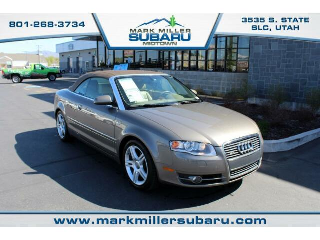 Audi : A4 2.0T Cab 2.0T Cabriol Convertible 42k miles Navigation Leather CD MP3 Gold Keyless Entry