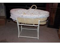 Moses basket, very good condition, smoke free house - £20