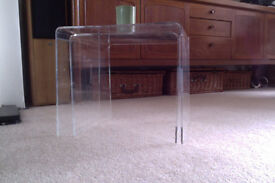 Acrylic table / small side table. (A second one also available)