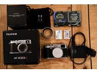 Fuji x100S digital camera with wide conversion lens WCL-X100 and extras