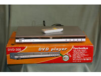 Technika DVD-300, DVD player. Silver. DTS output, component, S-video & SCART