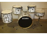 Tama Superstar White Satin Haze Drum Kit 12in + 13in + 16in Toms - 22in Bass 14in Snare DRUMS ONLY