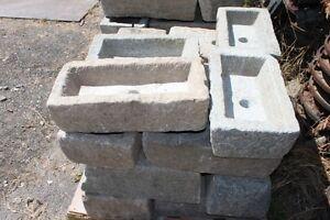 Vasca in pietra da 45 a 55 cm con foro vasche lavandino - Vasche in pietra da giardino ...