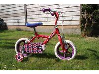 Girl's 12 Inch Wheel Sweetie Bike with Stabilisers