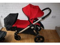 Black / red Baby Jogger City Select Double Pushchair for twins CAN POST