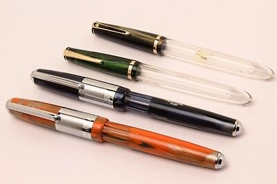 Lot Of 4 Best Quality Airmail Brand Eyedropper Fountain Pens Demonstrator New