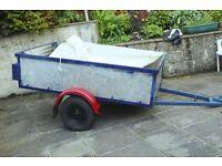 6 feet X 4 feet all metal trailer