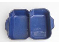 Denby Blue Divided Serving Dish Stoneware Dinnerware Oven Dish Roast Dinner
