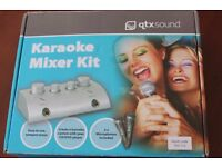QTXSound Karaoke Mixer Kit with Two Mics, as new, boxed