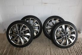 "WOLFRACE 17"" ALLOY WHEELS WITH TYRES"