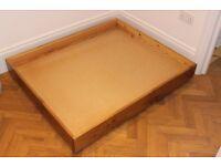 Under-bed storage, pine drawer