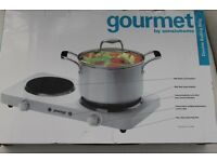 Electric Hotplate (2 plates) 1500W large 1000W Small. Ideal for table top cooking - Boxed & unused