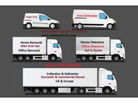 CHEAP Nationwide Removal Service Moving Office Furniture House Clearance Hire Man & Van Europe