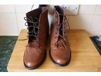 ladies brown real leather ankle boots size 8