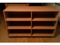 Modern wood storage cabinet