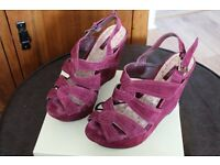 Next burgundy suede sandals in excellent condition.