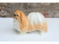 Vintage Sylvac Pekingese Standing Dog Model No. 3155 Ceramic Animal Figurine Pekinese