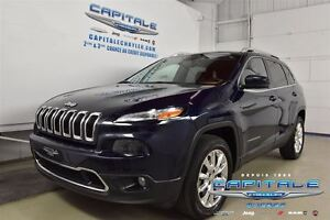 2014 Jeep Cherokee LIMITED 4X4*TOIT OUVRANT*CUIR*MAGS*GROUPE ÉLE
