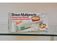Unused Braun Multipractic Delux Hand Blender MR72