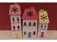 tea light up houses great for christmas decoration