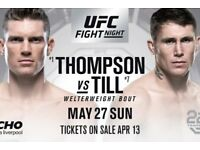 UFC LIVERPOOL TICKETS FLOOR SEATS