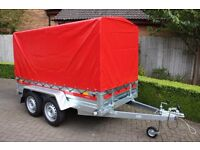NEW Tema PRO Trailer Double Axle and Full PVC Cover and Frame - 750kg GVW
