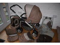 Silver Cross Freeway Linear pram travel system 3 in 1 brown sienna *can post*