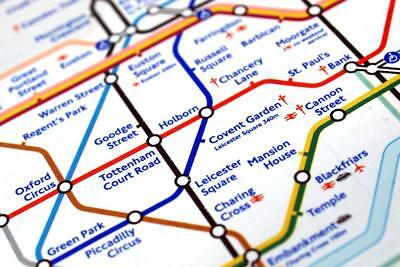 Tube Map of London Underground Piccadilly Circus Map Poster 24x36 inch