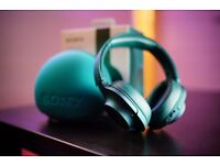 Sony MDR-100ABN (MDR100ABN) H.Ear On Wireless Noise Cancelling Headphones [Viridian Blue]
