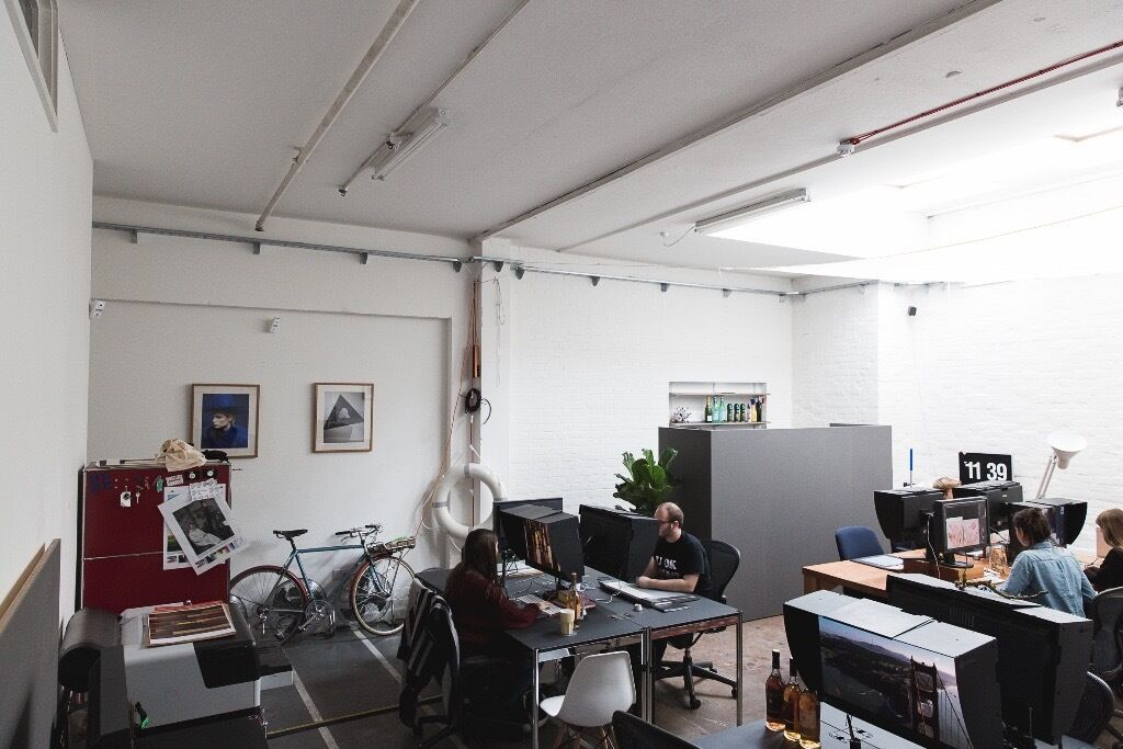Creative studio space office east london workspace design hackney downs studios blue - Small office space london property ...