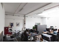 Hackney Downs Studios | Blue Hall | Creative Studio Space Office East London Workspace Design