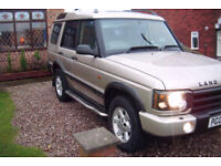 4x4 7 seats 5 door land rover discovery dt 5 gs late 2002 very low miles history well looked after