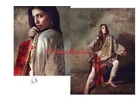 100% authentic SANA SAFINAZ lawn Eid heavy embroidered unstitched amazing values