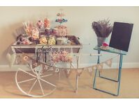 HIRE: BRISTOL CANDY CART SWEET BAR FOR WEDDINGS/PARTIES AND EVENTS!