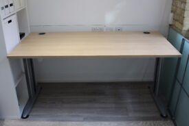 Solid Beech and Metal Desks 160 x 80