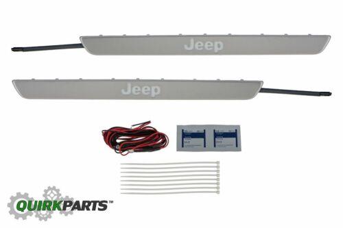 11-18 Jeep Grand Cherokee Door Sill Guards Illuminated Jeep Letters OEM MOPAR