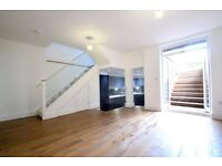 A refurbished three bedroom garden apartment on Muston Road, Clapton E8